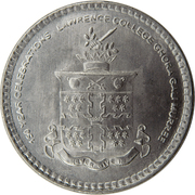 20 Rupees (150 Years Celebrations of Lawrence College) -  reverse