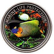 1 Dollar (Blue Gilled Angelfish & Butterfly-Fish) – reverse