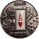 1 Dollar (Dealer Button) – reverse