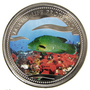 1 Dollar (Napoleon Fish) – reverse
