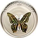 1 Dollar (Green/Black Butterfly) – reverse