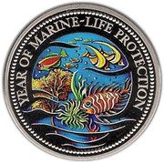 1 Dollar (Year of Marine Life Protection) – reverse