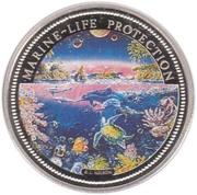 1 Dollar  (Ocean Scene) – reverse