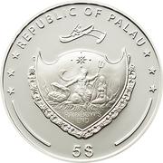 5 Dollars (Mount Kenya) -  obverse