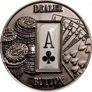 1 Dollar (Dealer Button: A♧) -  reverse