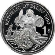 1 Dollar (Ocean Scene - Palladium Essai) – obverse