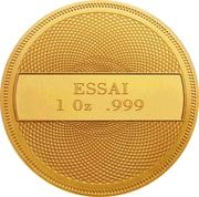 1 Dollar (Ocean Scene - Gold Essai) – reverse