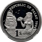 1 Dollar (Fish and Coral - Palladium Essai) – obverse