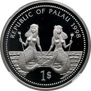 1 Dollar (Bottle-nose Dolphin - Palladium Essai) – obverse