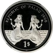 1 Dollar (Bottle-nose Dolphin - Platinum Essai) – obverse