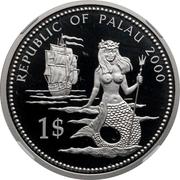 1 Dollar (Lionfish and Parrotfish - Palladium Essai) – obverse