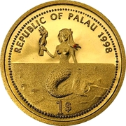 1 Dollar (Sea Turtle; Gold Proof Issue) – obverse