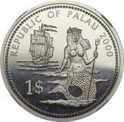 1 Dollar (Lionfish and Parrotfish - Platinum Essai) – obverse
