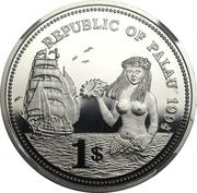 1 Dollar (Fish and Coral - Platinum Essai) – obverse