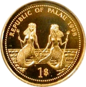 1 Dollar (Bottle-Nose Dolphin; Gold Proof Issue) – obverse