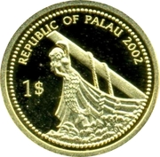 1 Dollar (Sperm Whale; Gold Proof Issue) – obverse