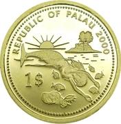 1 Dollar (Swordfish; Gold Proof Issue) – obverse