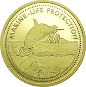 1 Dollar (Swordfish; Gold Proof Issue) – reverse