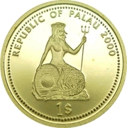 1 Dollar (Shipwreck; Gold Proof Issue) – obverse