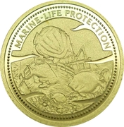 1 Dollar (Shipwreck; Gold Proof Issue) – reverse