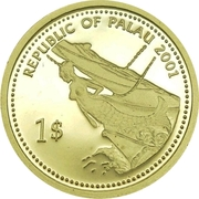 1 Dollar (Jellyfish; Gold Proof Issue) – obverse