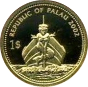 1 Dollar (Pufferfish; Gold Proof Issue) – obverse