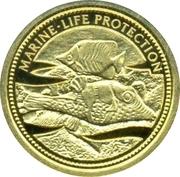 1 Dollar (Pufferfish; Gold Proof Issue) – reverse