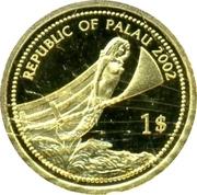 1 Dollar (Blue-powder Surgeonfish; Gold Proof Issue) – obverse