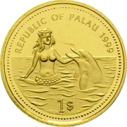 1 Dollar (Manta Ray; Gold Proof Issue) – obverse