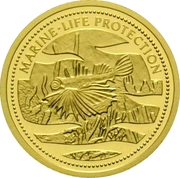 1 Dollar (Lionfish; Gold Proof Issue) – reverse