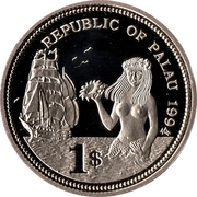 1 Dollar (Fish and Coral) – obverse