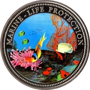1 Dollar (Fish and Coral) – reverse