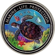 1 Dollar (Sea Turtle) – reverse