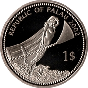 1 Dollar (Blue-powder Surgeonfish) – obverse