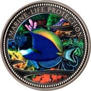 1 Dollar (Blue-powder Surgeonfish) – reverse