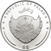 5 Dollars (Aconcagua) -  obverse