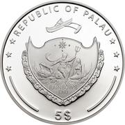 5 Dollars (Ama Dablam) -  obverse