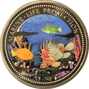 1 Dollar (Lion & Parrotfish) – reverse