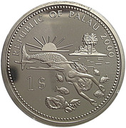 1 Dollar (Swordfish) – obverse