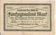 50,000 Mark (Handelsschutzverband der Pfalz) – obverse