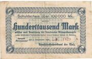 100,000 Mark (Handelsschutzverband der Pfalz) – obverse