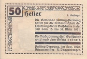 50 Heller (Palting-Perwang) -  reverse