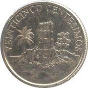 25 Centésimos (Ruins of Old Panama) – obverse