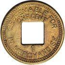 1 Cent (Palo Seco Leprosarium) – reverse