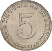 5 Centésimos – obverse