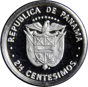 2½ Centésimos (Set Issue) – reverse