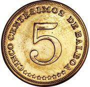 5 Centesimos (Piedfort) – obverse
