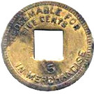5 Cents (Palo Seco Leprosarium) – reverse