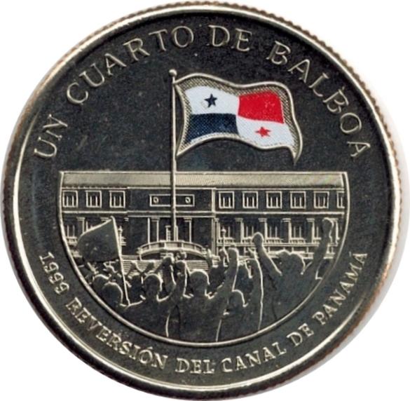 "Panama Cuarto 1//4 Colored UNC balboa 2016 /""Centenary of Canal/"" 5th coin"