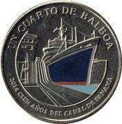 ¼ Balboa (Centenary of Panama Canal) -  obverse